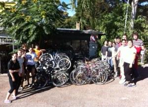 pile of bikes